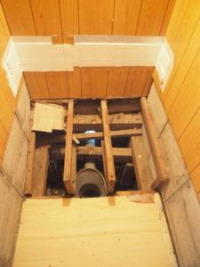 汲み取り式トイレ解体3