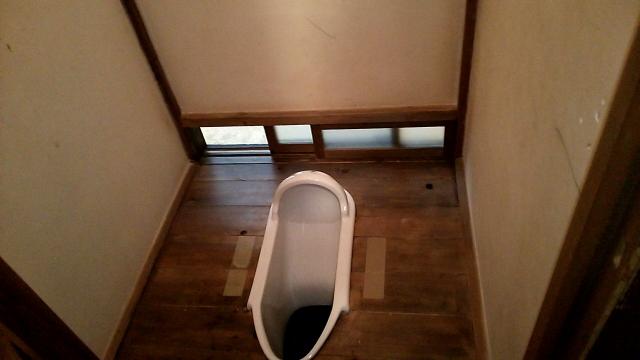 簡易水洗へのトイレリフォーム1